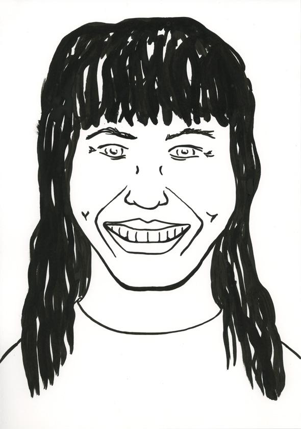 Kora Junger – #001_01_08_1083, 29,7 x 21 cm, ink on paper, 2008