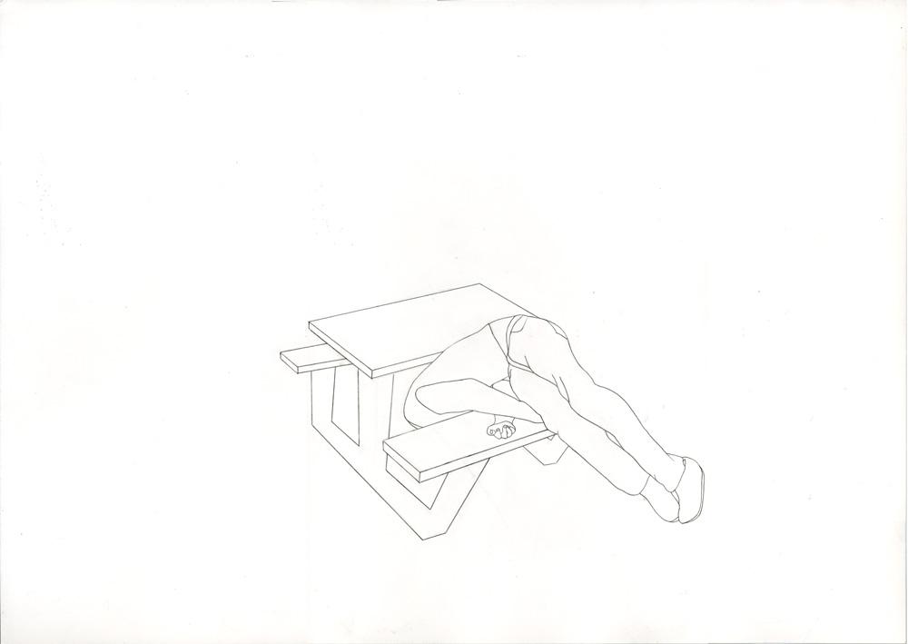 Kora Junger – #001_06_12_1187, 29,7 x 42 cm, pencil on paper, 2012