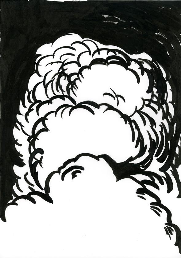 Kora Junger – #002_02_09_1102, 29,7 x 21 cm, ink on paper, 2009