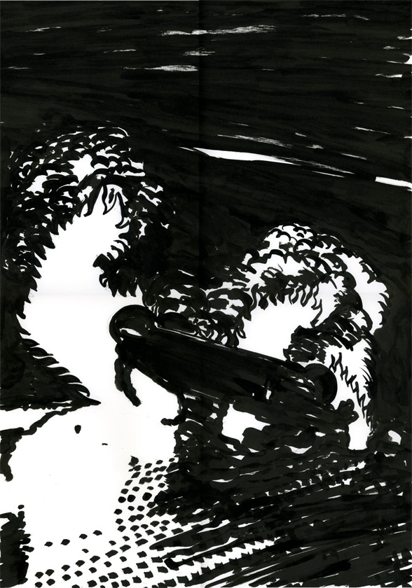 Kora Junger – #002_03_09_1103, 29,7 x 21 cm, ink on paper, 2009