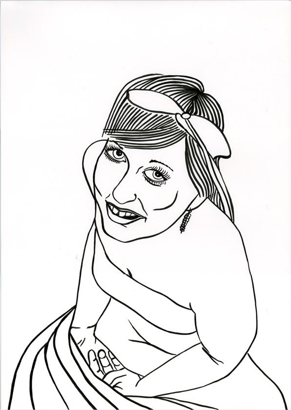 Kora Junger – #002_06_09_1106, 42 x 29,7 cm, ink on paper, 2009