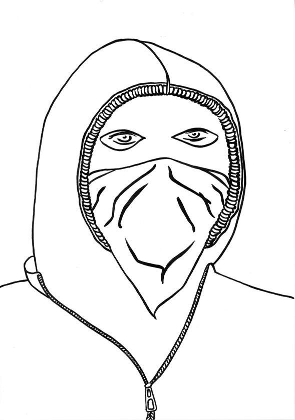 Kora Junger – #002_18_09_1118, 29,7 x 21 cm, ink on paper, 2009