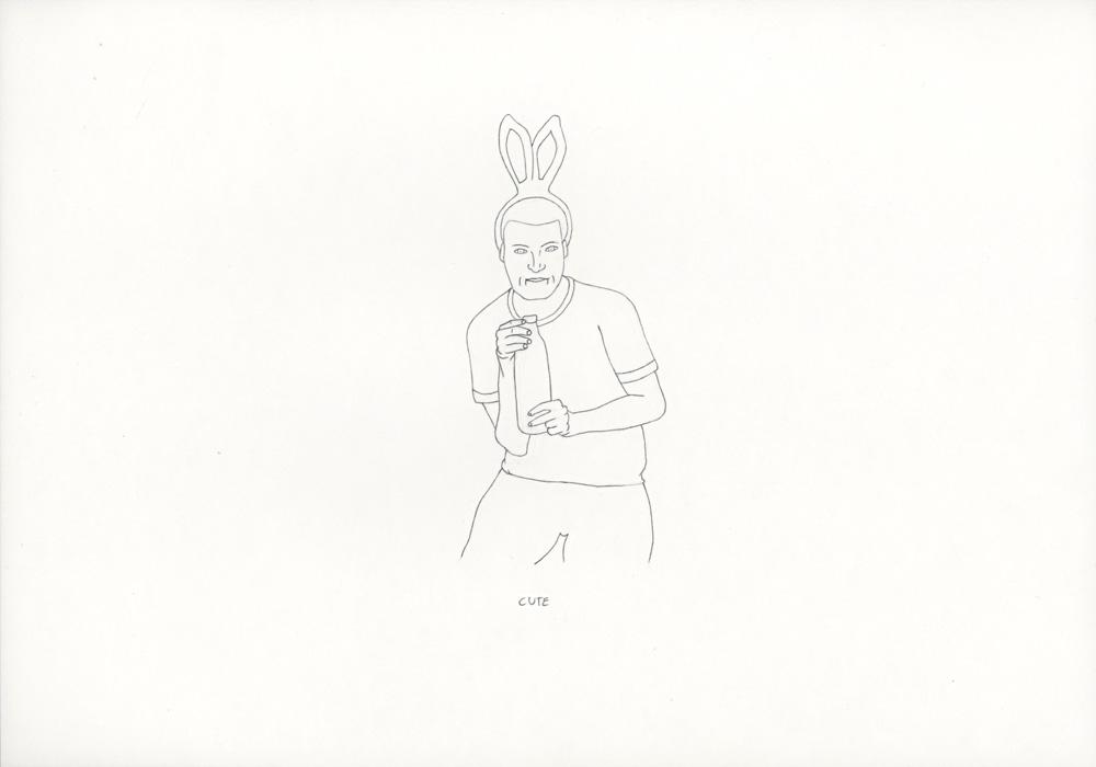 Kora Junger – »World's Saddest Songs« #003_02_06_834, 21 x 29,7 cm, pencil on paper, 2006