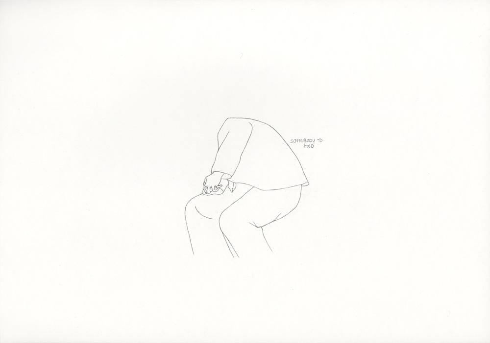 Kora Junger – »World's Saddest Songs« #003_04_06_836, 21 x 29,7 cm, pencil on paper, 2006