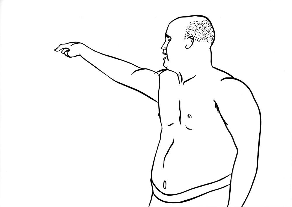 Kora Junger – #003_05_09_1124, 29,7 x 42 cm, ink on paper, 2009