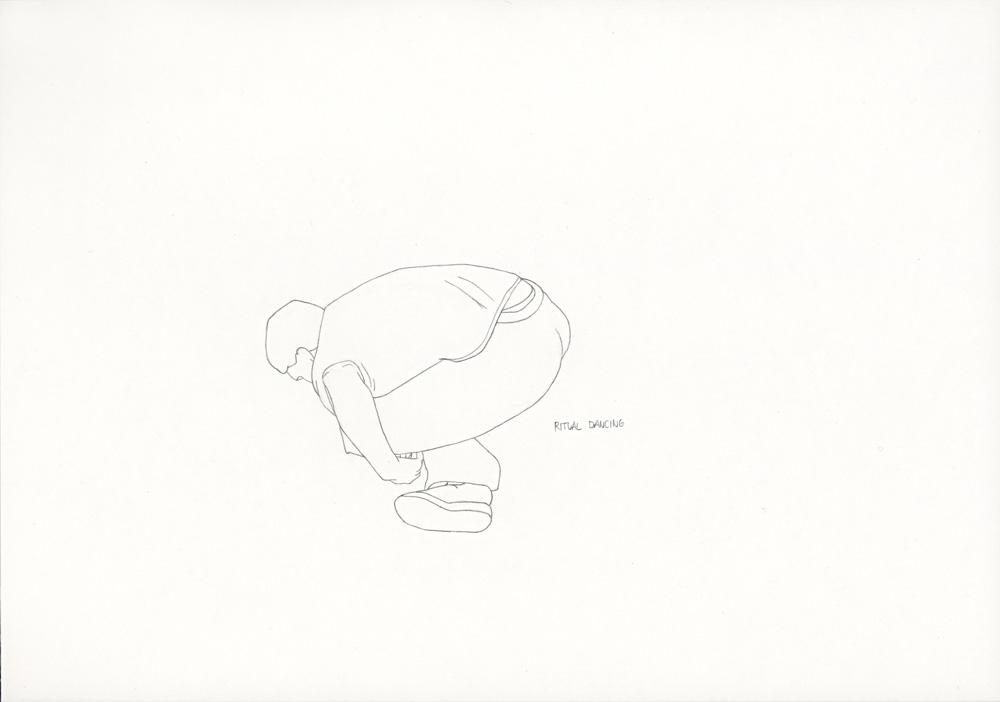 Kora Junger – »World's Saddest Songs« #003_07_06_839, 21 x 29,7 cm, pencil on paper, 2006