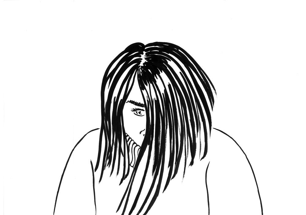 Kora Junger – #003_08_09_1127, 29,7 x 42 cm, ink on paper, 2009