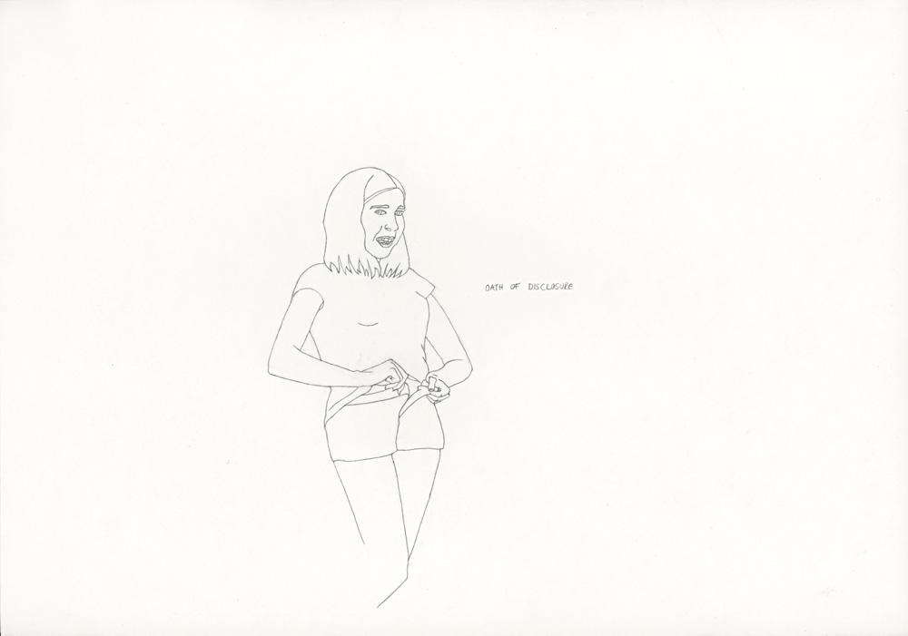 Kora Junger – »World's Saddest Songs« #003_09_06_841, 21 x 29,7 cm, pencil on paper, 2006