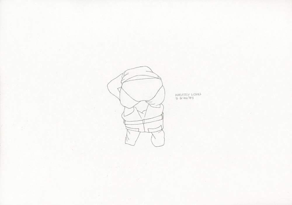 Kora Junger – »World's Saddest Songs« #003_10_06_842, 21 x 29,7 cm, pencil on paper, 2006