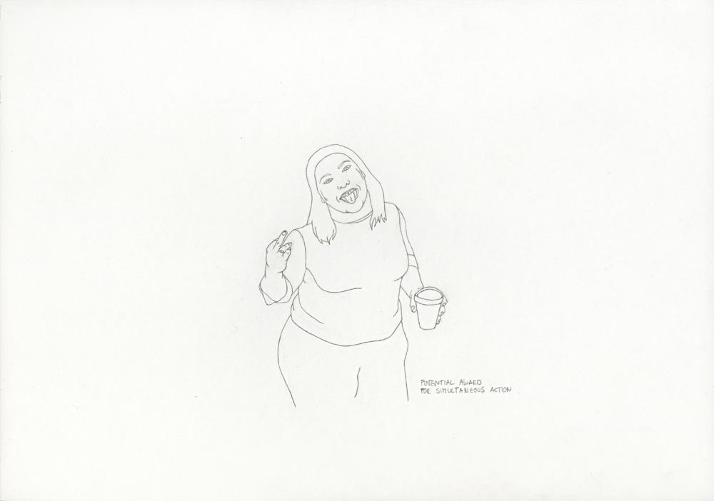 Kora Junger – »World's Saddest Songs« #003_11_06_843, 21 x 29,7 cm, pencil on paper, 2006