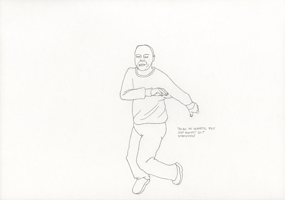 Kora Junger – »World's Saddest Songs« #003_12_06_844, 21 x 29,7 cm, pencil on paper, 2006