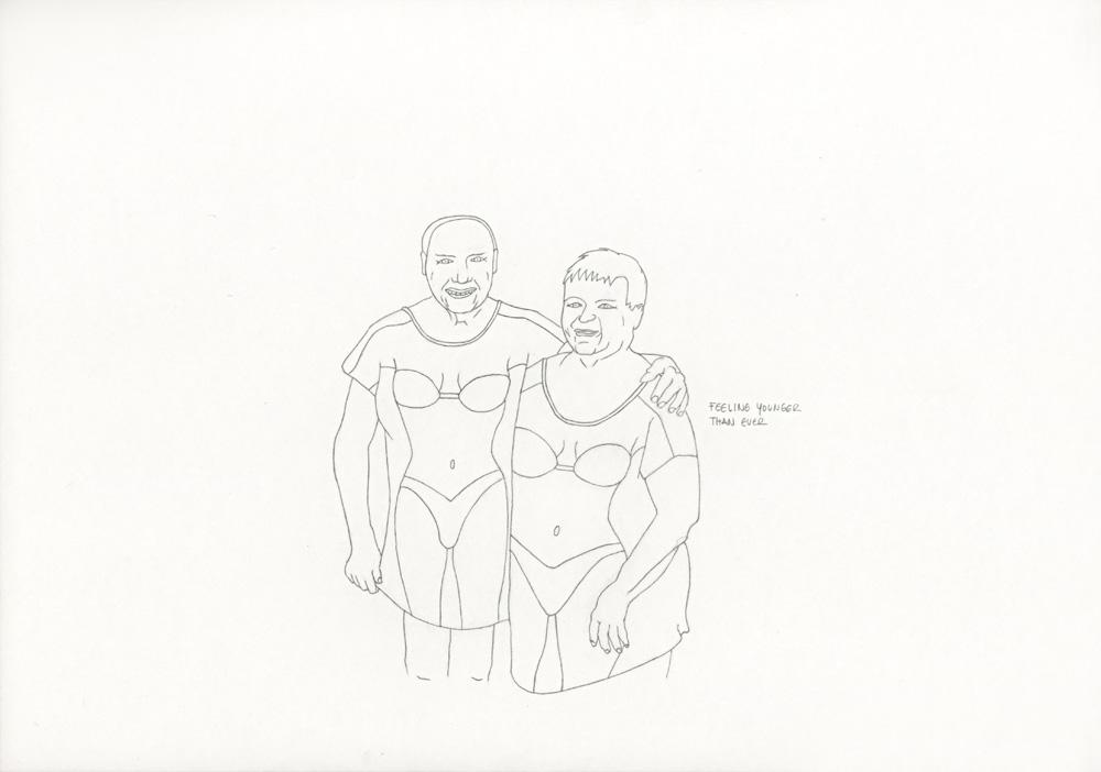 Kora Junger – »World's Saddest Songs« #003_13_06_845, 21 x 29,7 cm, pencil on paper, 2006