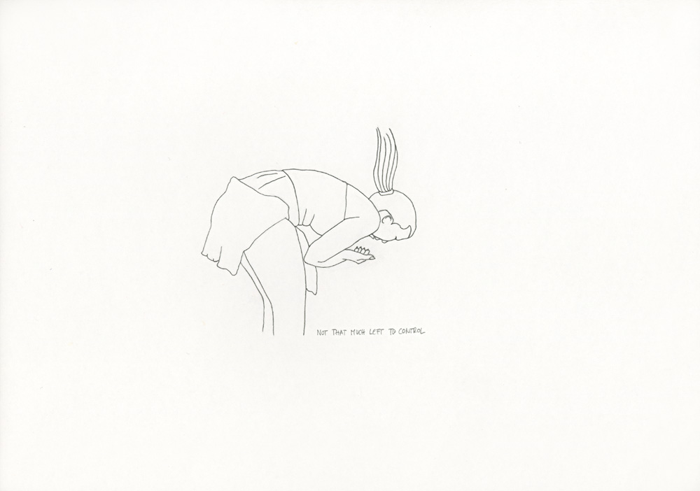 Kora Junger – »World's Saddest Songs« #003_14_06_846, 21 x 29,7 cm, pencil on paper, 2006