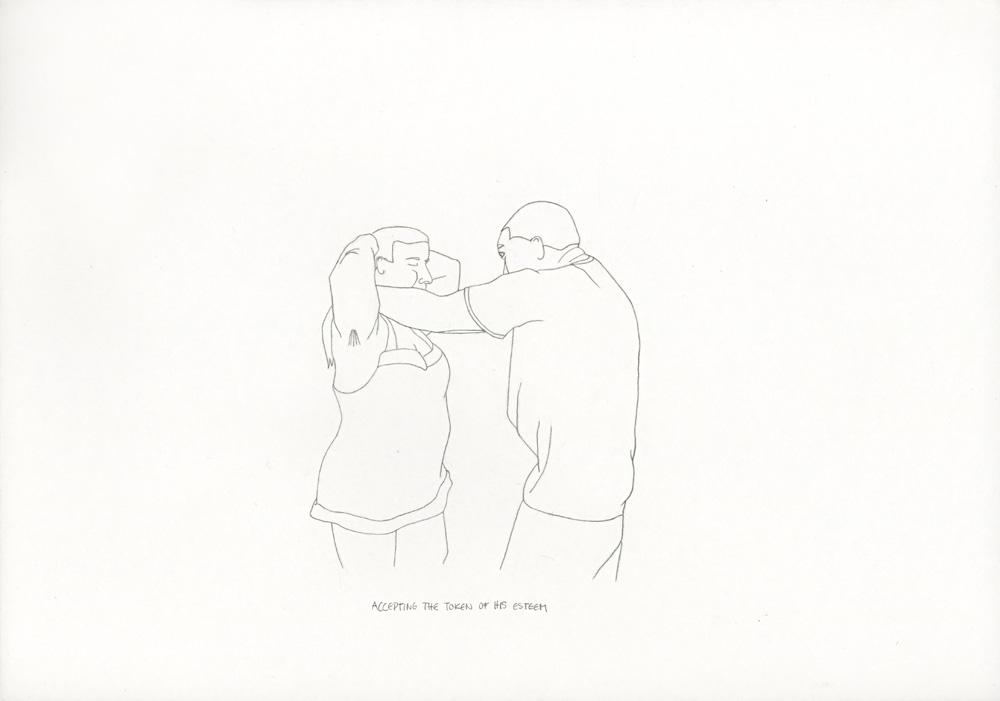 Kora Junger – »World's Saddest Songs« #003_18_06_850, 21 x 29,7 cm, pencil on paper, 2006