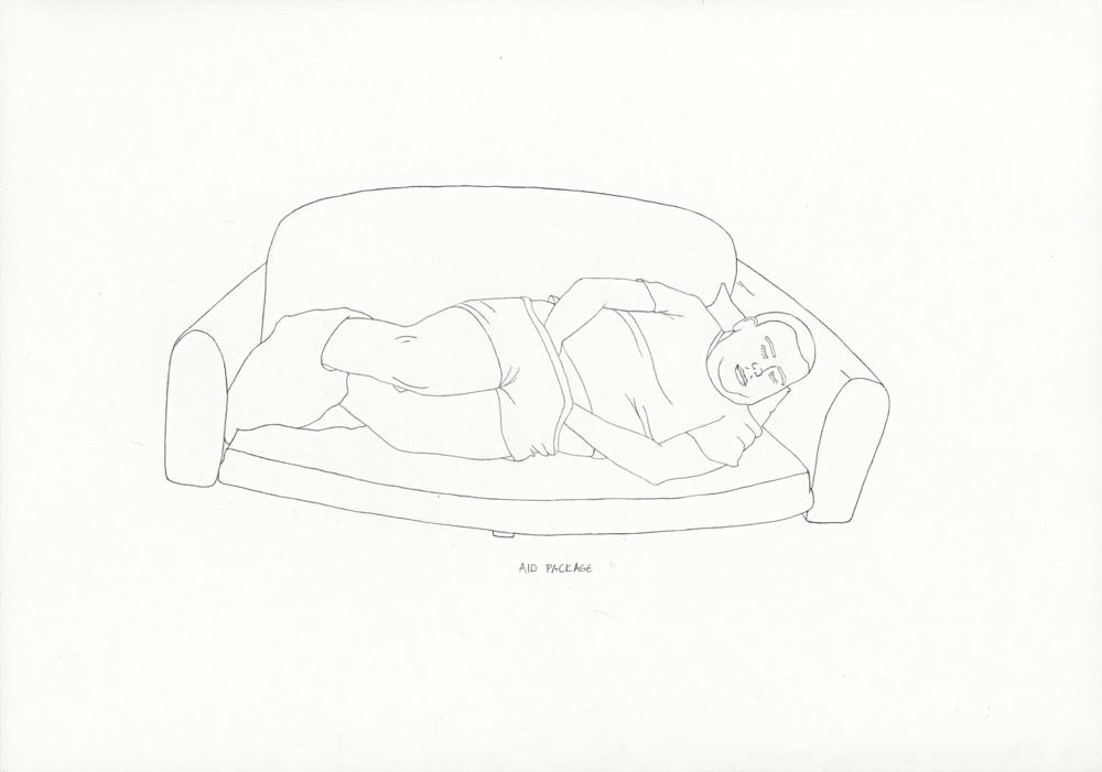 Kora Junger – »World's Saddest Songs« #003_19_06_851, 21 x 29,7 cm, pencil on paper, 2006