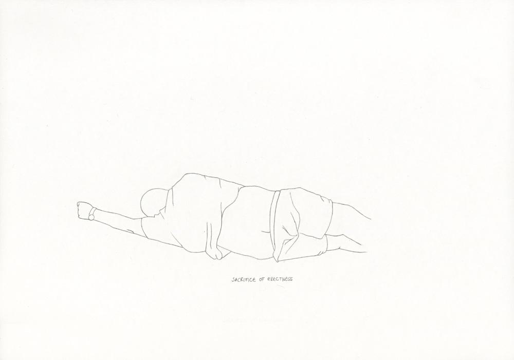 Kora Junger – »World's Saddest Songs« #003_20_06_852, 21 x 29,7 cm, pencil on paper, 2006