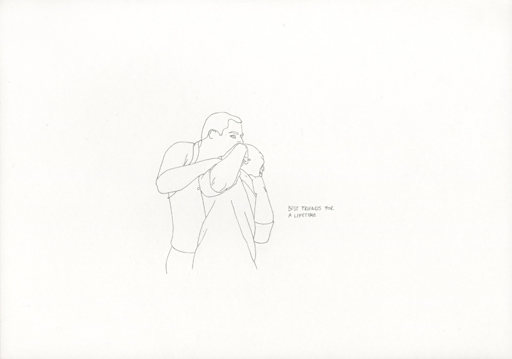 Kora Junger – »World's Saddest Songs« #003_21_06_853, 21 x 29,7 cm, pencil on paper, 2006