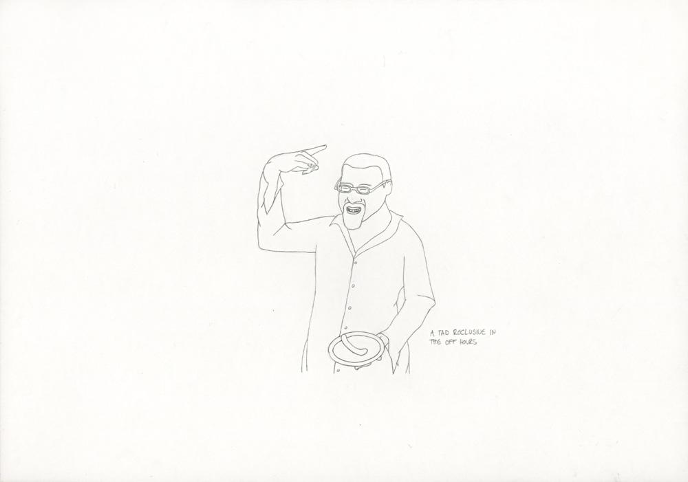 Kora Junger – »World's Saddest Songs« #003_22_06_854, 21 x 29,7 cm, pencil on paper, 2006