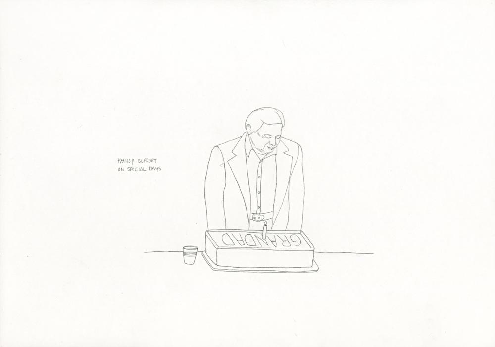 Kora Junger – »World's Saddest Songs« #003_23_06_855, 21 x 29,7 cm, pencil on paper, 2006