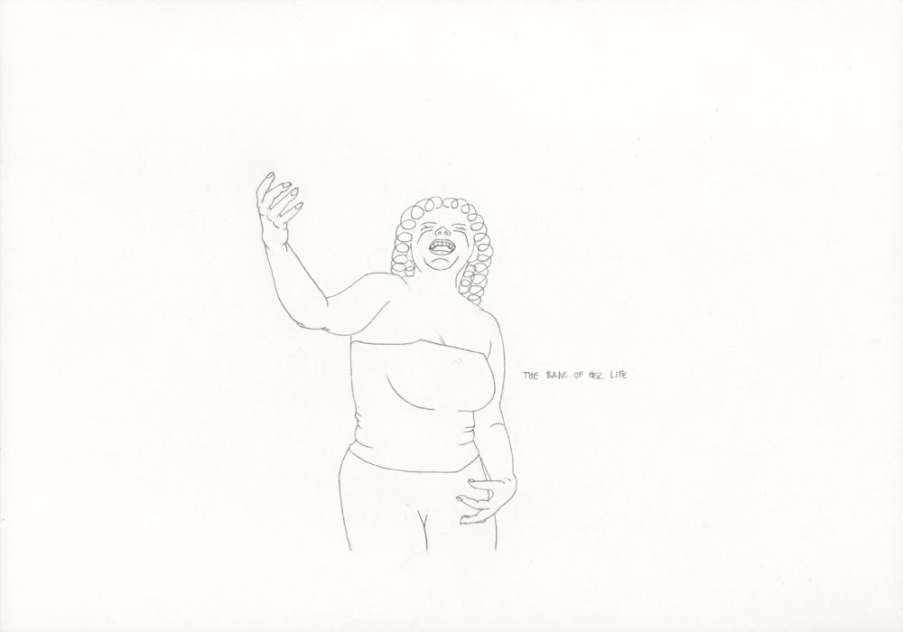 Kora Junger – »World's Saddest Songs« #003_25_06_857, 21 x 29,7 cm, pencil on paper, 2006