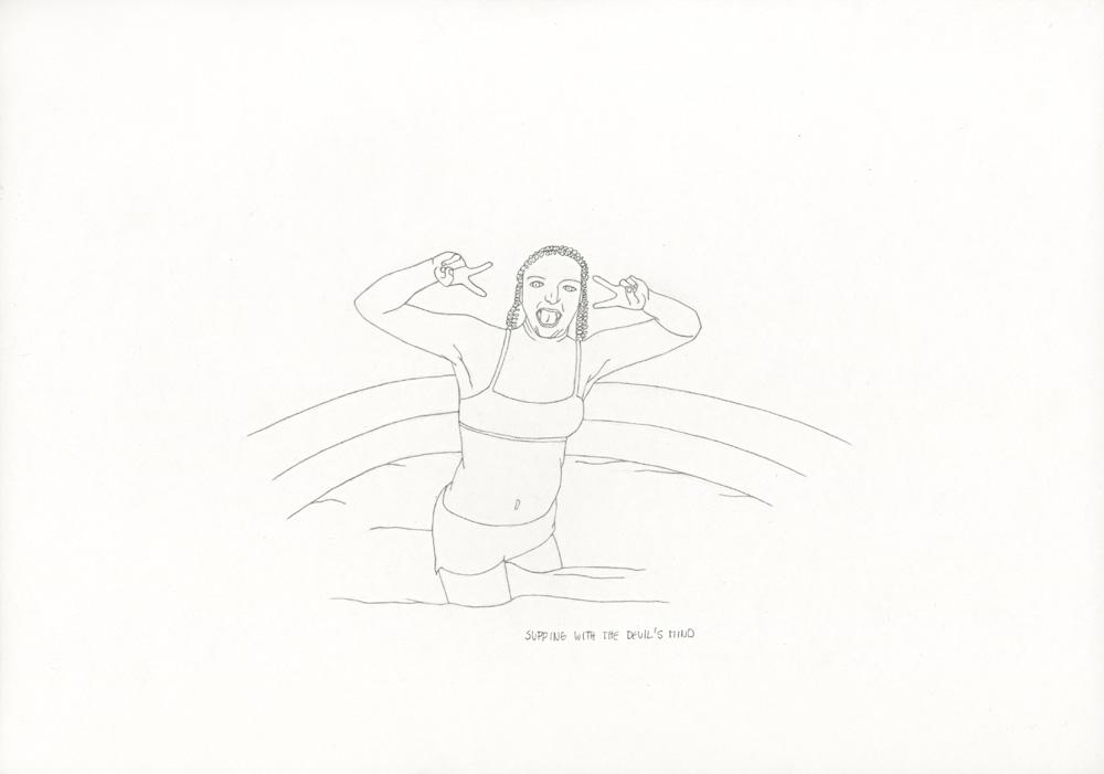 Kora Junger – »World's Saddest Songs« #003_26_06_858, 21 x 29,7 cm, pencil on paper, 2006