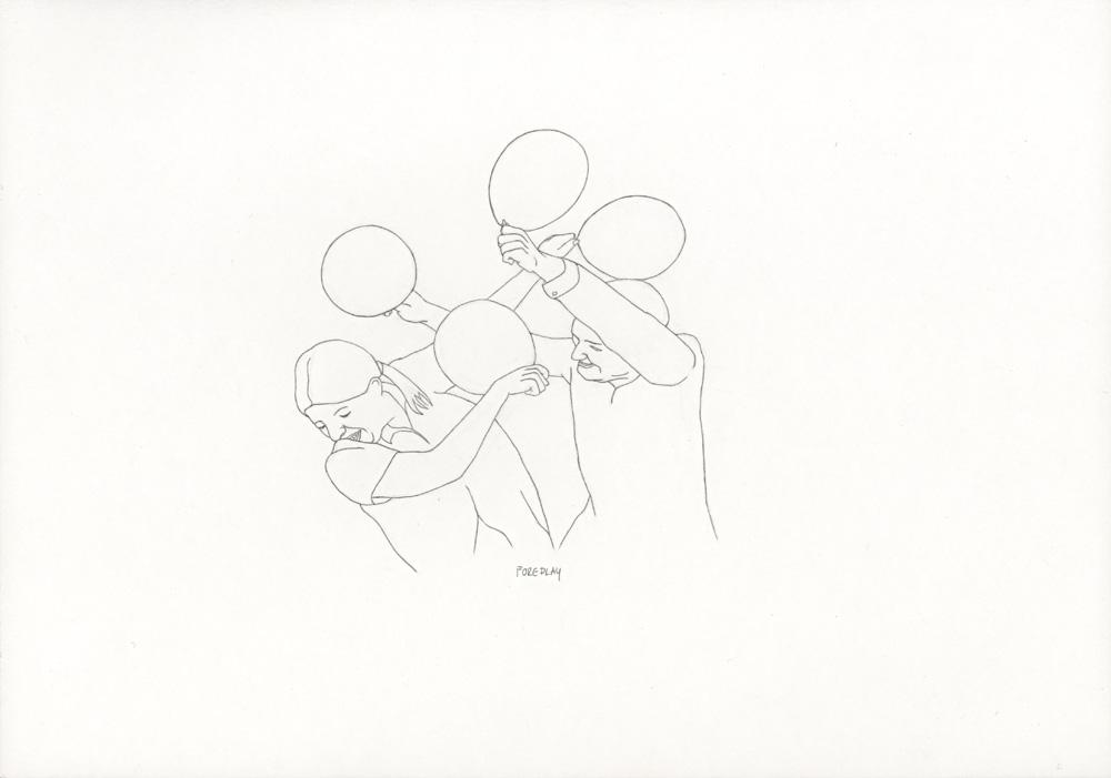 Kora Junger – »World's Saddest Songs« #003_27_06_859, 21 x 29,7 cm, pencil on paper, 2006