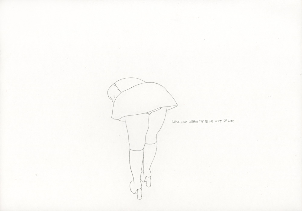 Kora Junger – »World's Saddest Songs« #003_28_06_860, 21 x 29,7 cm, pencil on paper, 2006