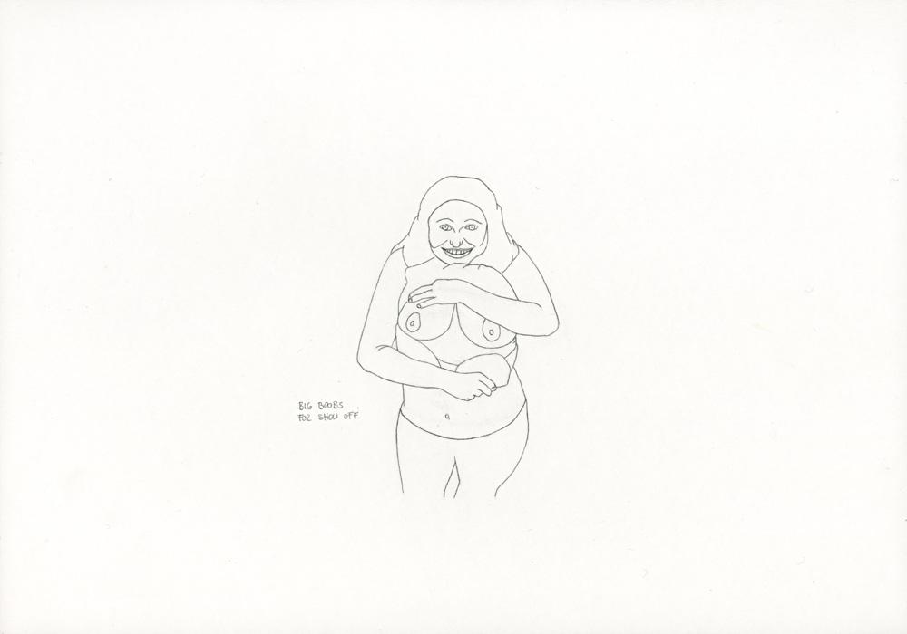 Kora Junger – »World's Saddest Songs« #003_29_06_861, 21 x 29,7 cm, pencil on paper, 2006