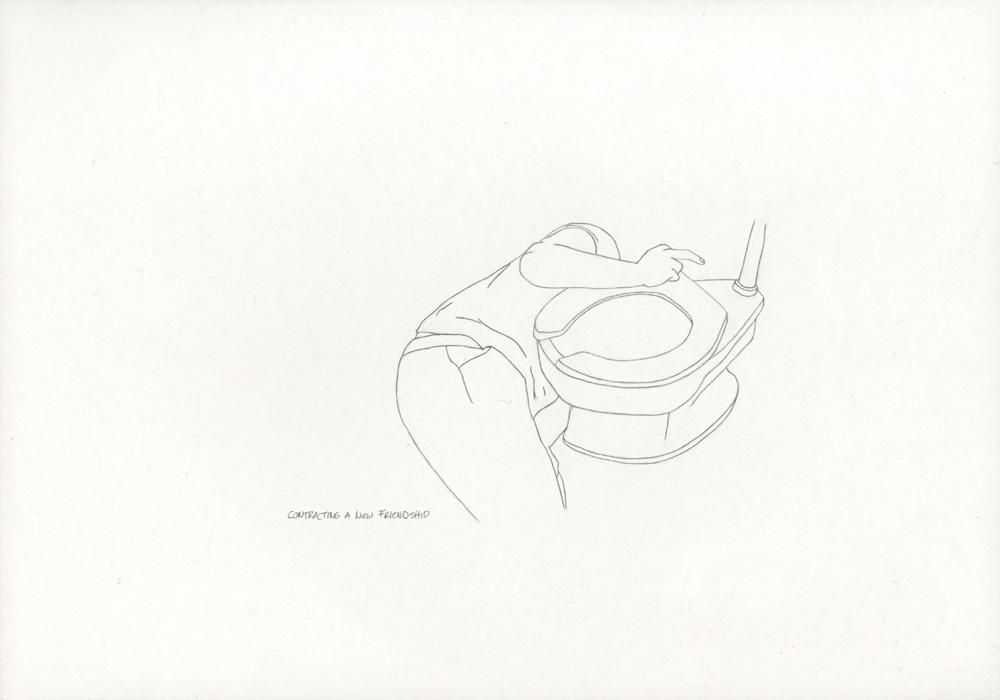 Kora Junger – »World's Saddest Songs« #003_31_06_863, 21 x 29,7 cm, pencil on paper, 2006