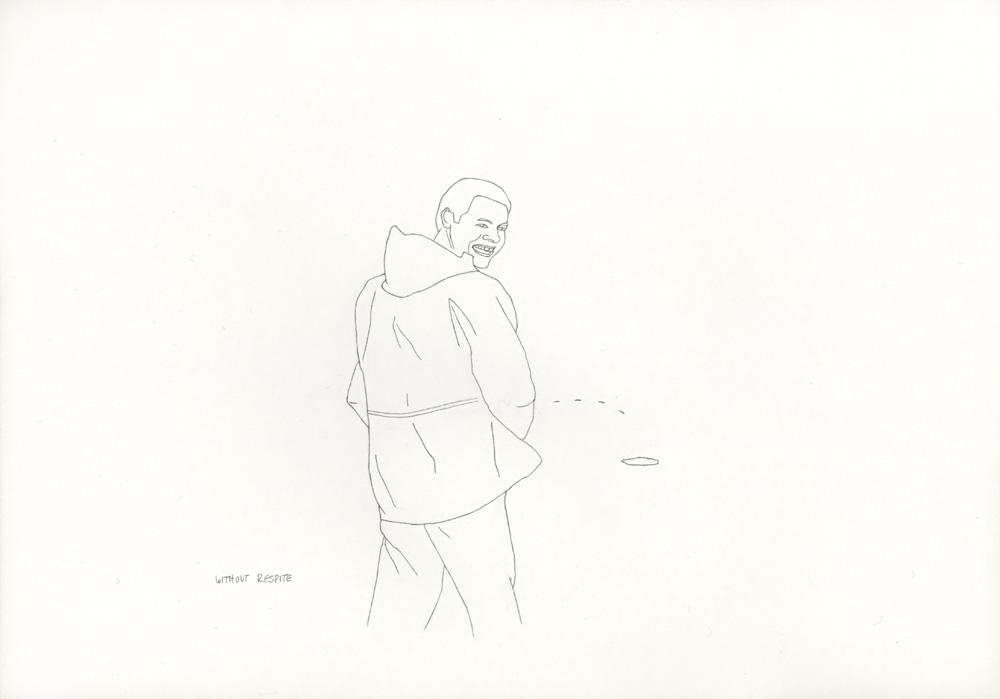 Kora Junger – »World's Saddest Songs« #003_32_06_864, 21 x 29,7 cm, pencil on paper, 2006