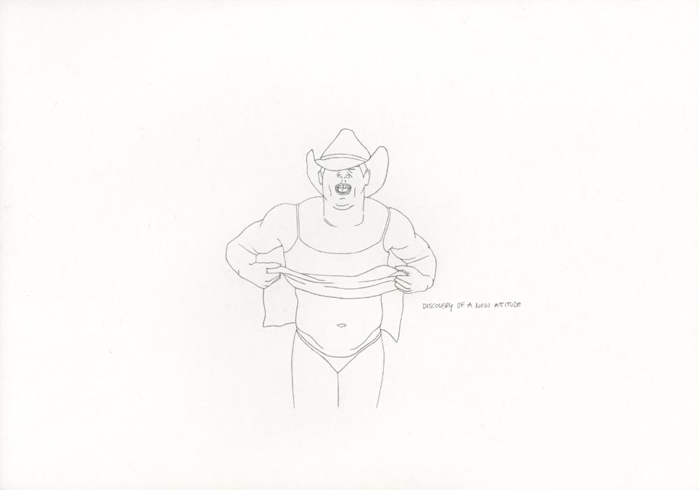 Kora Junger – »World's Saddest Songs« #003_33_06_865, 21 x 29,7 cm, pencil on paper, 2006