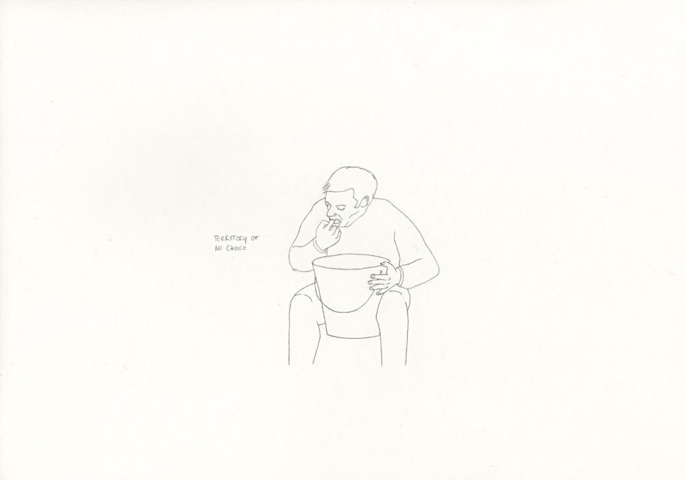 Kora Junger – »World's Saddest Songs« #003_34_06_866, 21 x 29,7 cm, pencil on paper, 2006
