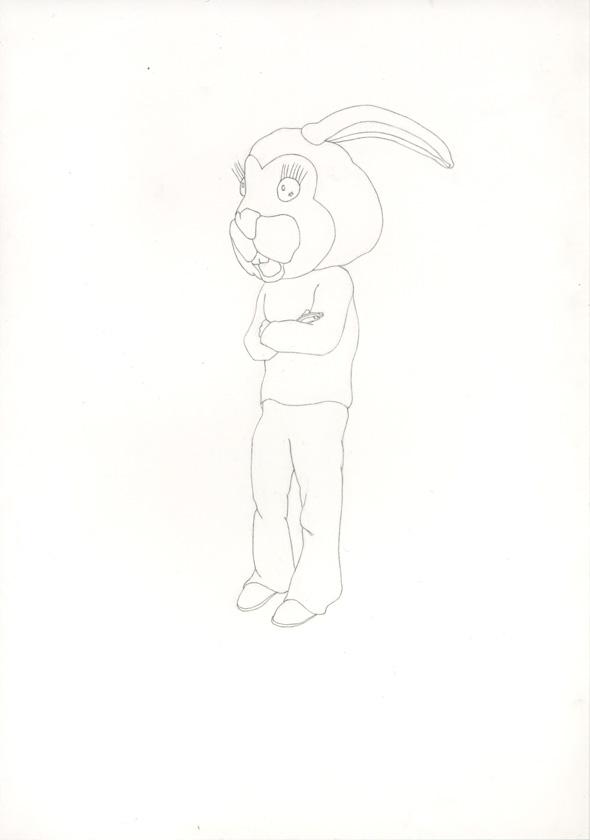 Kora Junger – #008_01_07_1049, 29,7 x 21 cm, pencil on paper, 2007