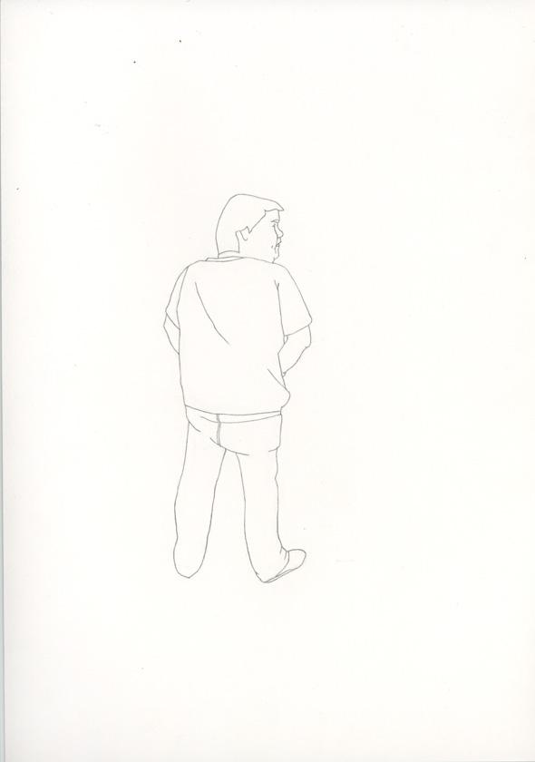 Kora Junger – #008_03_07_1051, 29,7 x 21 cm, pencil on paper, 2007