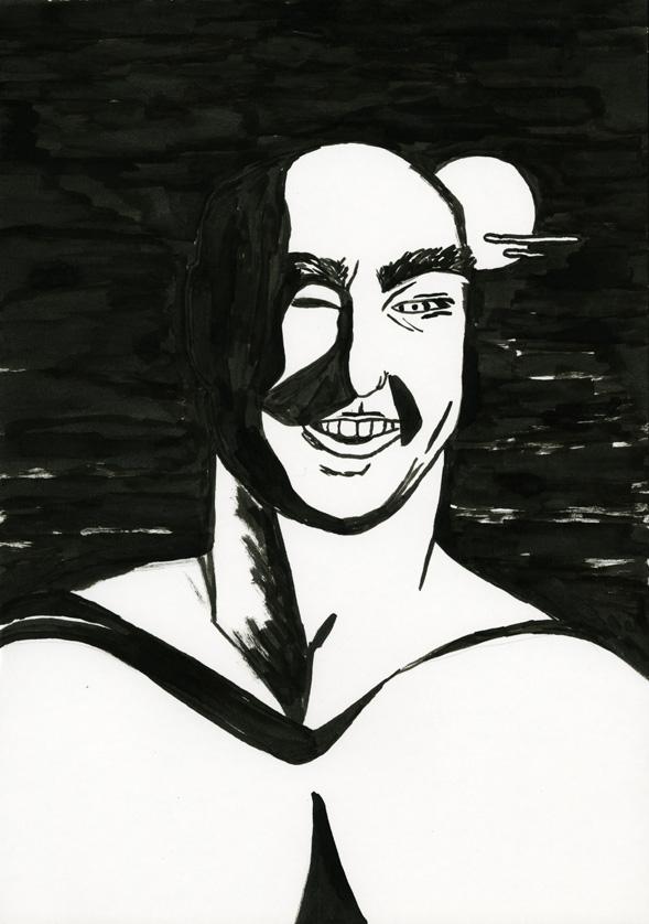 Kora Junger – #008_08_06_901, 29,7 x 21 cm, ink on paper, 2006