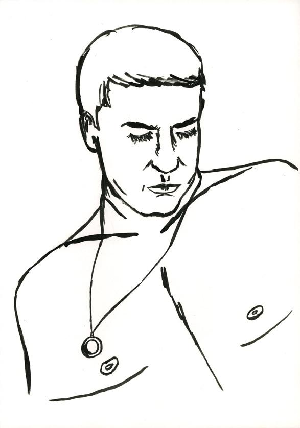 Kora Junger – #008_10_06_903, 29,7 x 21 cm, ink on paper, 2006