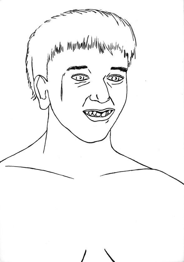 Kora Junger – #008_13_06_906, 29,7 x 21 cm, ink on paper, 2006