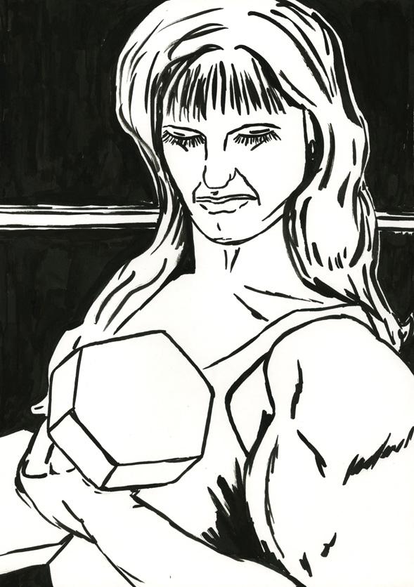 Kora Junger – #008_17_06_910, 29,7 x 21 cm, ink on paper, 2006