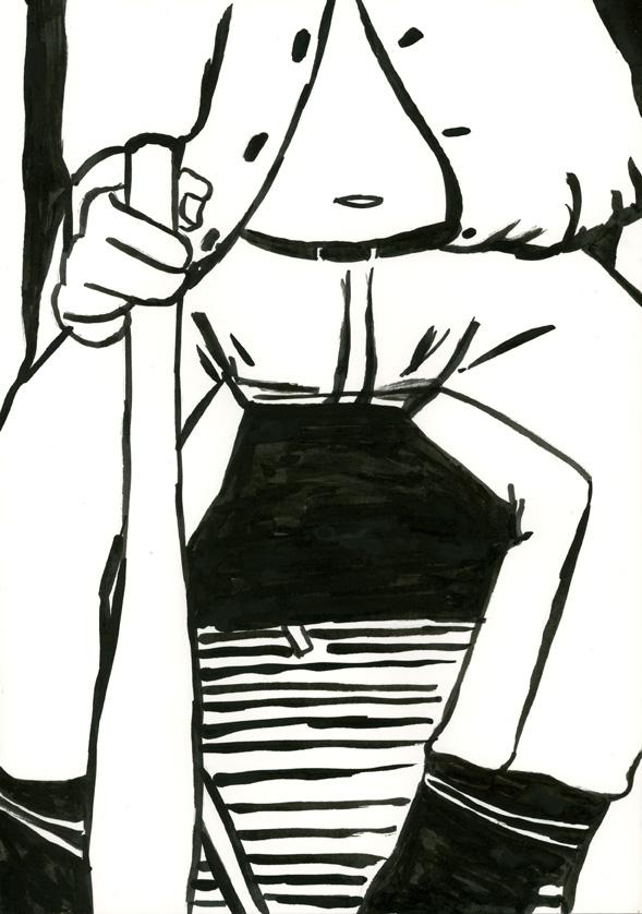 Kora Junger – #008_18_06_911, 29,7 x 21 cm, ink on paper, 2006