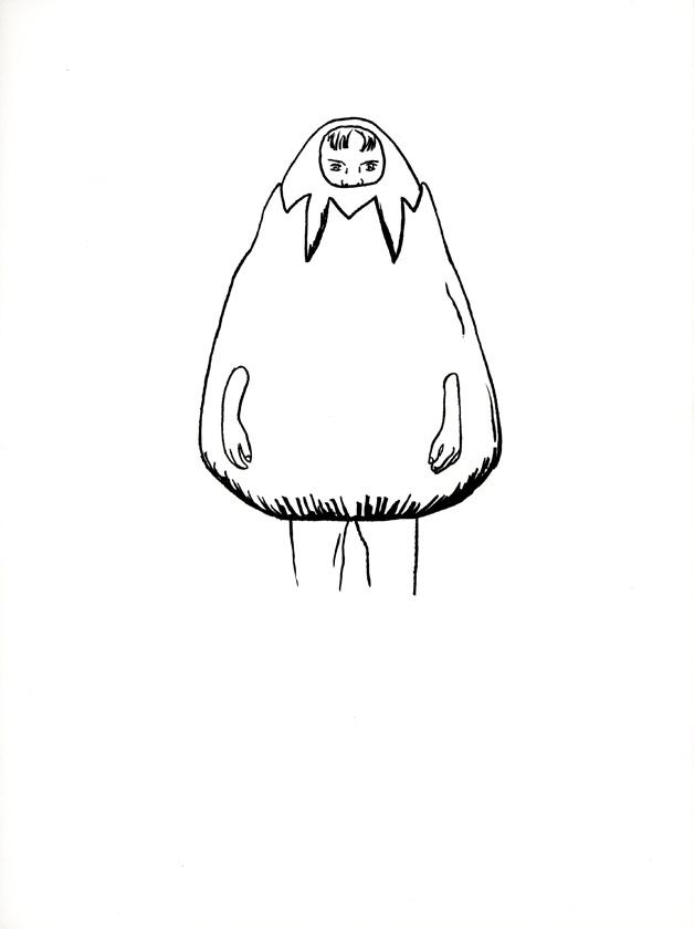 Kora Junger – #008_19_06_912, 21 x 14,8 cm, ink on paper, 2006