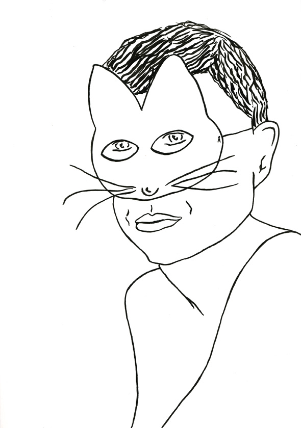 Kora Junger – #009_07_07_1058, 29,7 x 21 cm, ink on paper, 2007