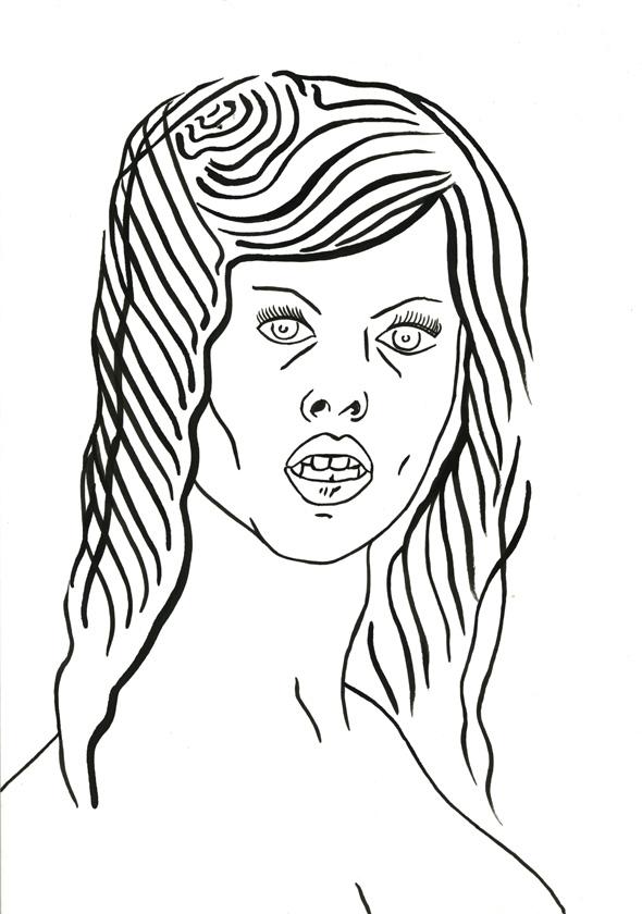 Kora Junger – #009_11_07_1062, 29,7 x 21 cm, ink on paper, 2007