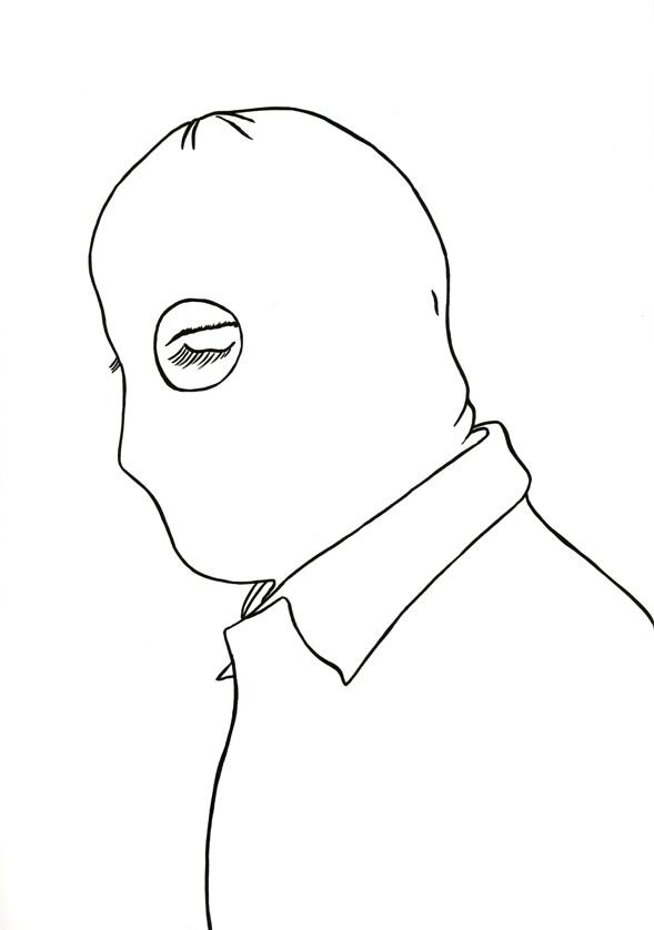 Kora Junger – #009_16_07_1067, 29,7 x 21 cm, ink on paper, 2007