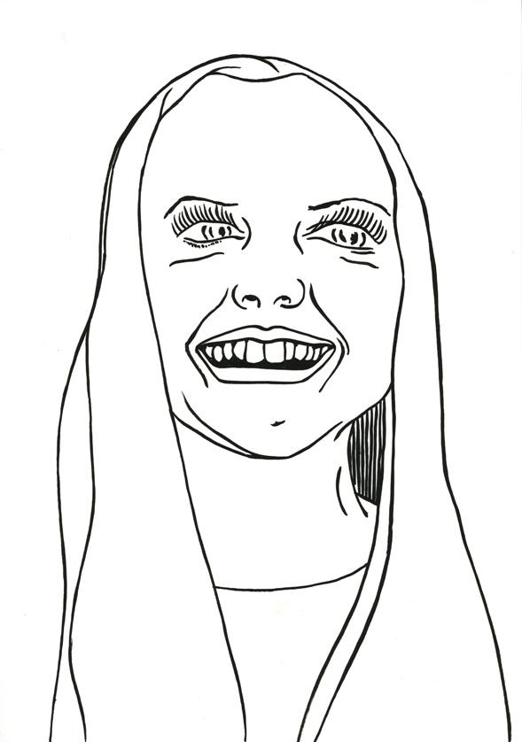 Kora Junger – #010_05_07_1072, 29,7 x 21 cm, ink on paper, 2007