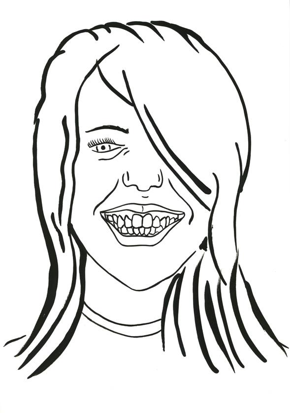 Kora Junger – #010_07_07_1074, 29,7 x 21 cm, ink on paper, 2007