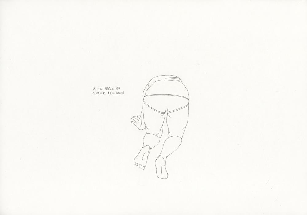 Kora Junger – »World's Saddest Songs« #011_01_06_932, 21 x 29,7 cm, pencil on paper, 2006