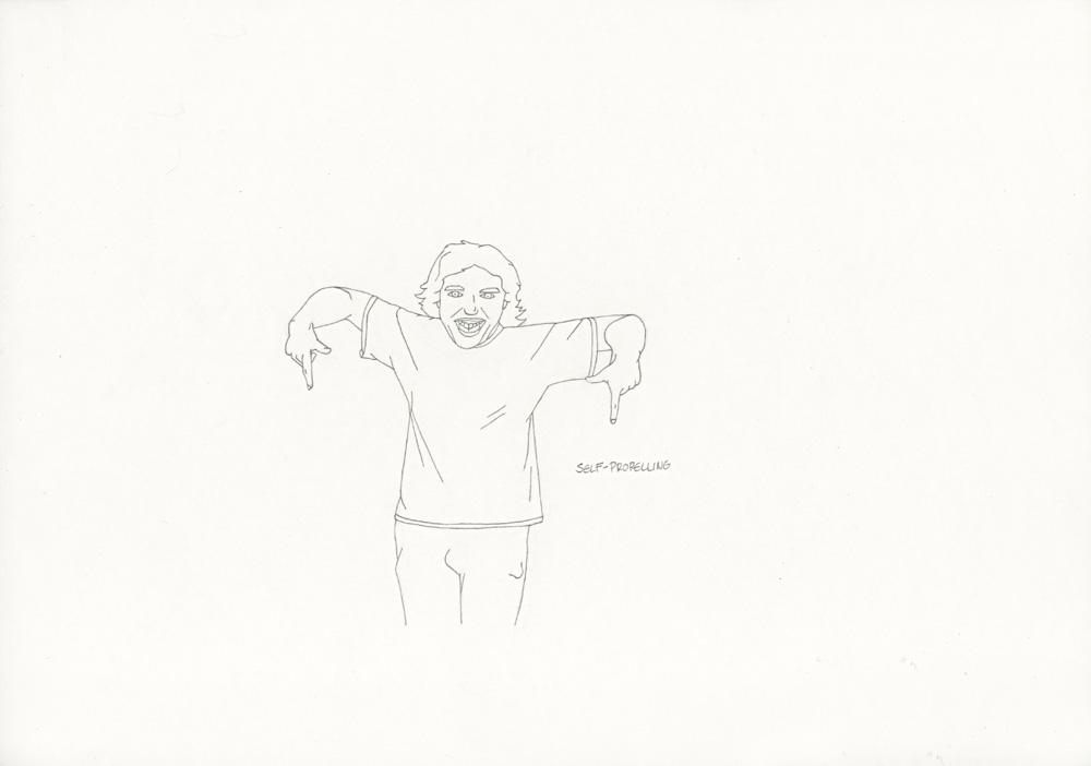 Kora Junger – »World's Saddest Songs« #011_03_06_934, 21 x 29,7 cm, pencil on paper, 2006