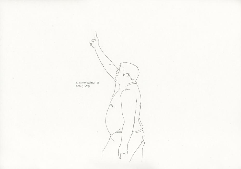 Kora Junger – »World's Saddest Songs« #011_05_06_936, 21 x 29,7 cm, pencil on paper, 2006
