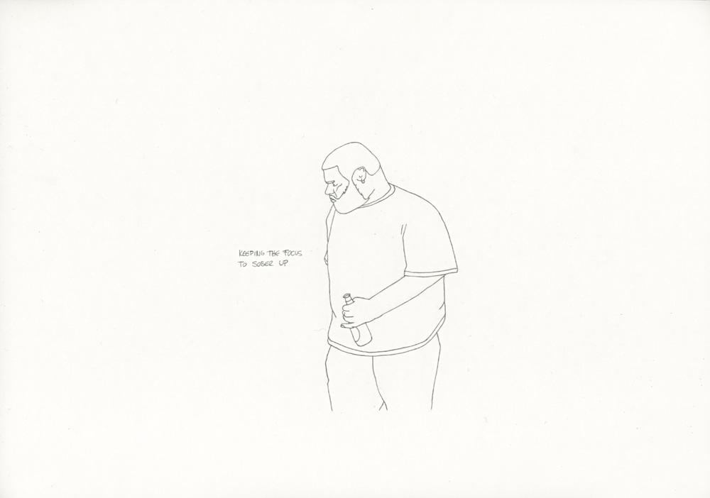Kora Junger – »World's Saddest Songs« #011_06_06_937, 21 x 29,7 cm, pencil on paper, 2006