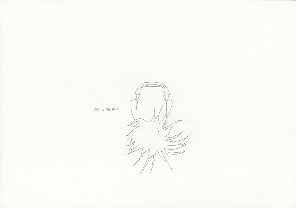 Kora Junger – »World's Saddest Songs« #011_07_06_938, 21 x 29,7 cm, pencil on paper, 2006